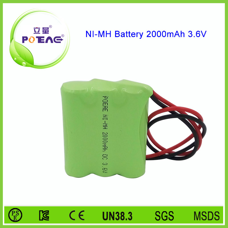 Trade Assurance AA 3.6v 2000mah ni-mh rechargeable battery