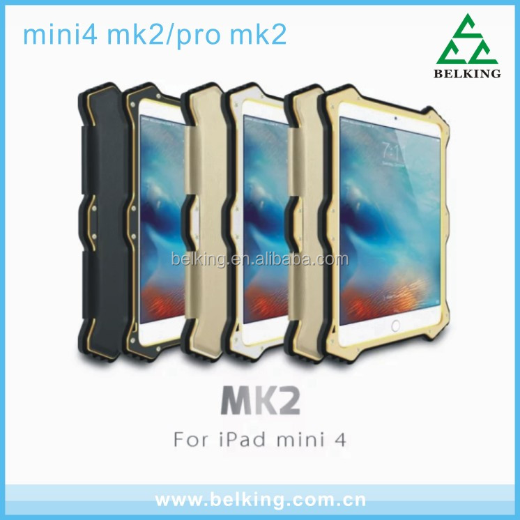 Love Mei Waterproof Metal Case For iPad Mini 4 Anti Drop Case