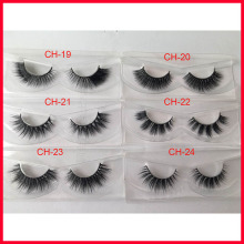 Mink Eye Lashes 100%real siberian mink strip eyelashes 3D mink lashes with custom packaging AA