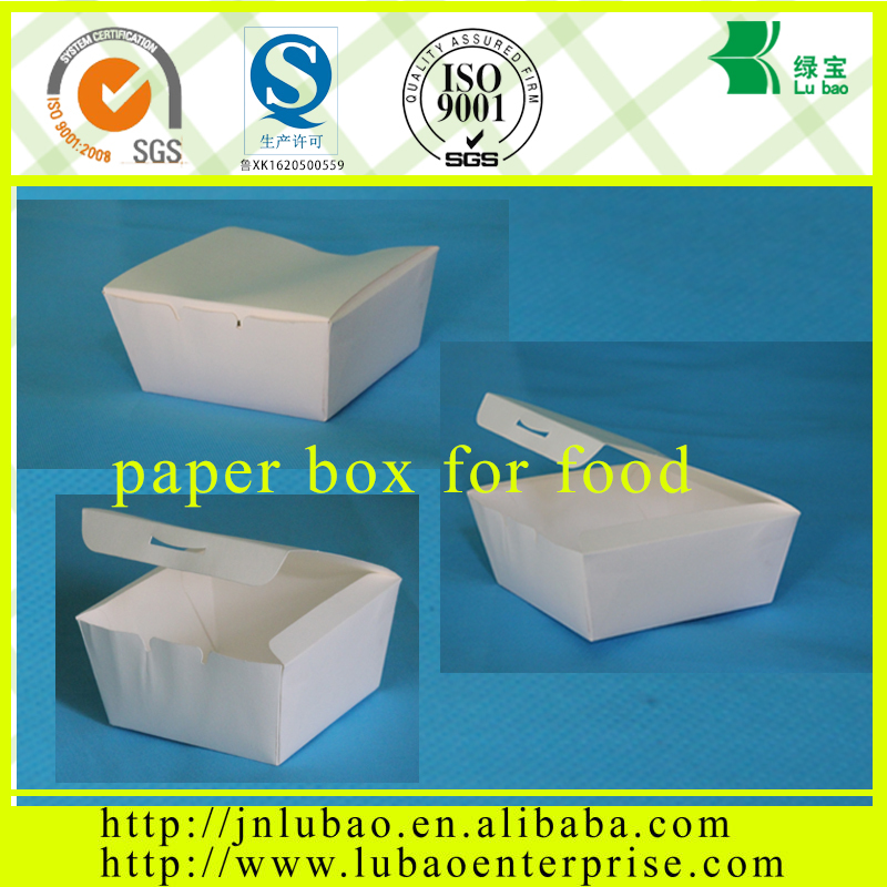 paper hamburger food box making machine with thin paper