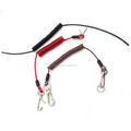 Plastic Lobster Clasp Spring Coil Cord Keychain Keyring Strap Key Holder