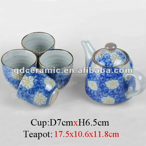 With Stainless Stell Strainer Ceramic Teapot And Cups Set