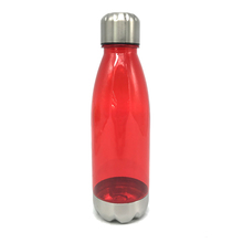 <strong>Sports</strong> drink bottles 750ML cola shape plastic bottle with stainless steel lid and base