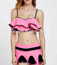 High quality bikini wholesale OEM custom beautiful Cute style swimming skirt bikini for girls