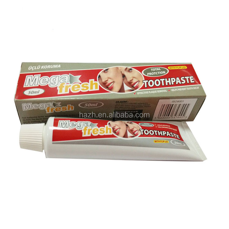 50ml Mega fresh total protection toothpaste, plaque remover, prevent tooth decay