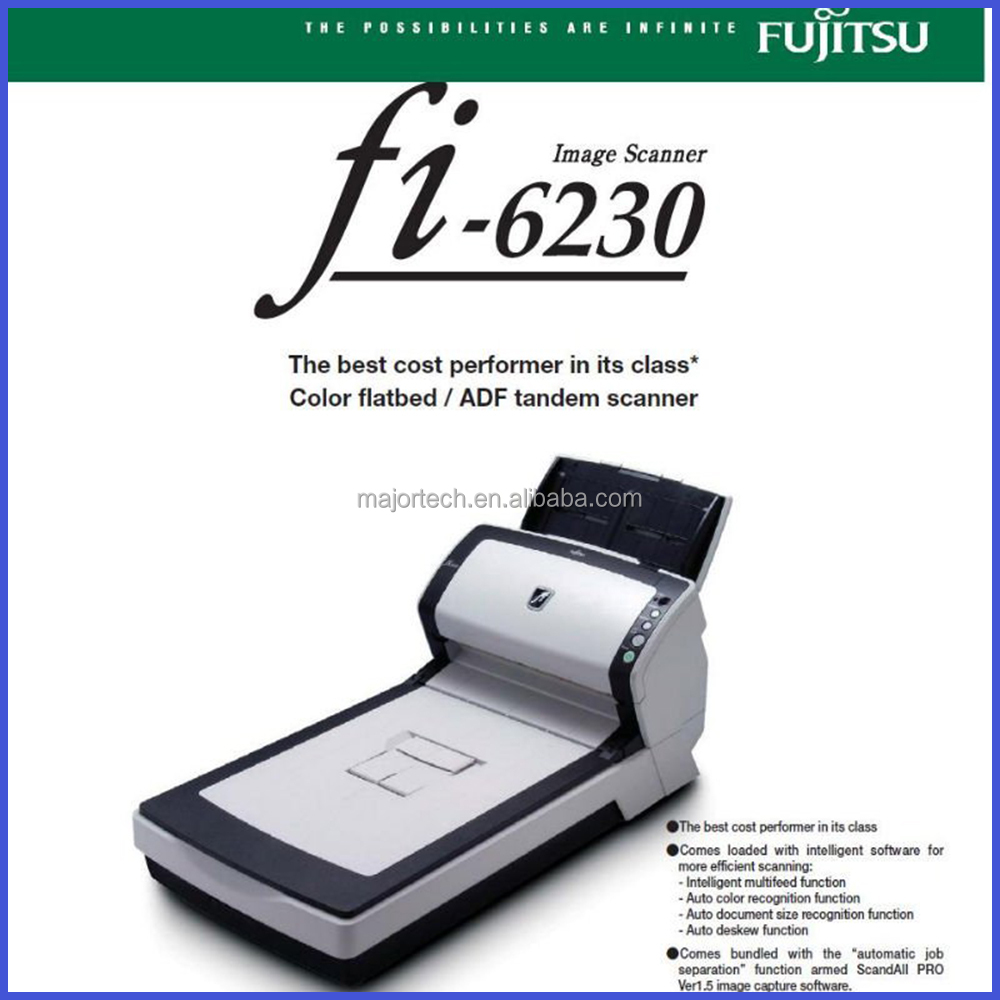 Brand new duplex USB fi 6230 document Scanner ADF-Auto Document Feeder for size A4 Professional document scanners