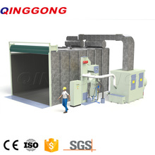 Sandblasting room for mold surface treatment machine