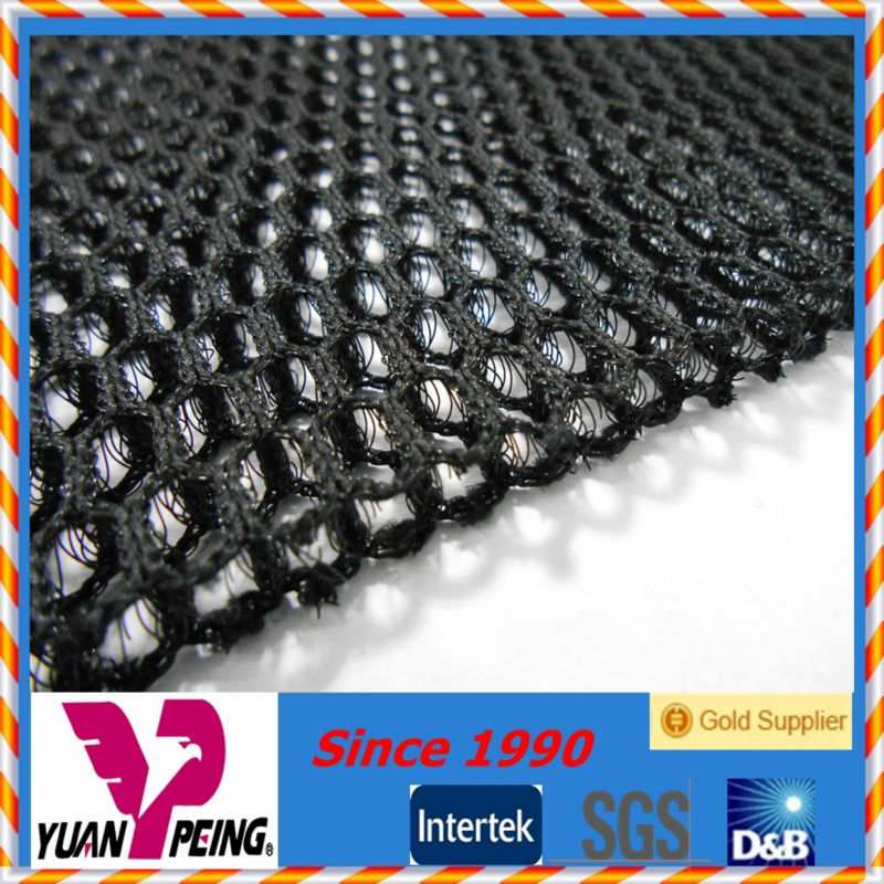 breathable black 100% polyester scooter 3d air mesh fabric 6mm