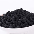Cylindrical impregnated koh activated carbon for desulfurization