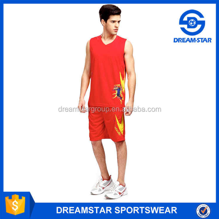 Printed Pattern Reversible Basketball Jersey Pictures For Boy