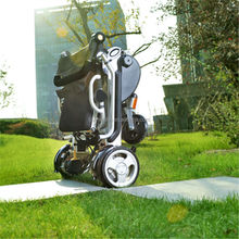 Portable mobility travel electric wheelchair easy to Load into back of the car and trunk