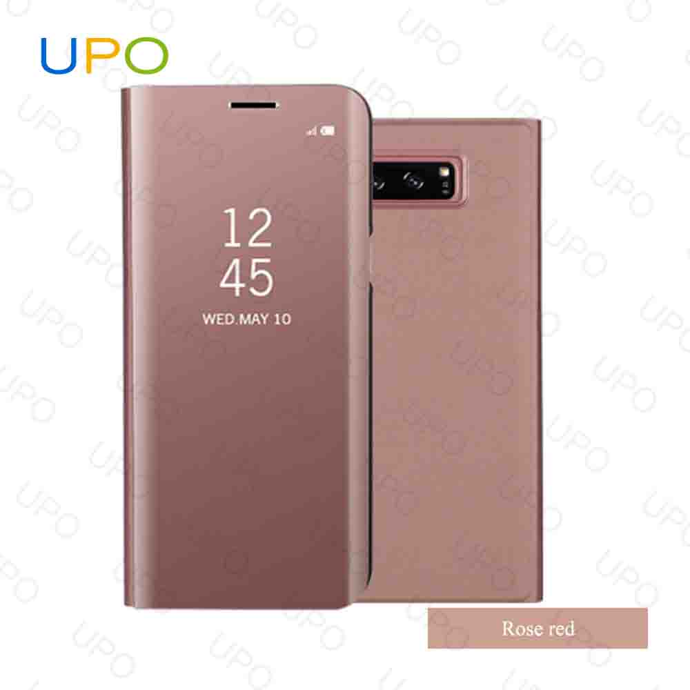 [UPO] Wholesale Auto Flip Leather Cell Phone Mirror clear view Case for Samsung Galaxy Note 8 Case Cover