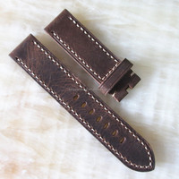 20mm 22mm handmade old italian leather watch strap china factory
