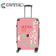 Customized Design 2017 Hard case luggage bags/travel trolley luggage bag/beautiful abs pc luggage