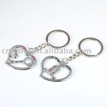promtion love metal keychain
