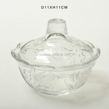 Glassware glass sugar bowl with lid Glass jar