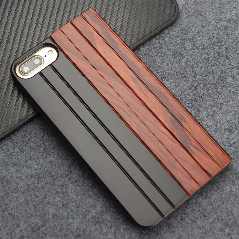 2016 trending product artworks pure wood surface phone case for iphone 7 plus case