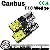 Best selling products 24 smd t10 canbus car led bulb light
