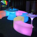 Modern Plastic Lighting Sofa General Use Plastic Furniture LED Sofa