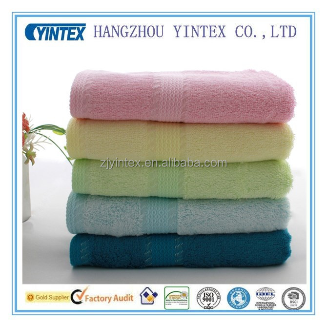 100% Combed Cotton Solid Color Dobby Border face Towels