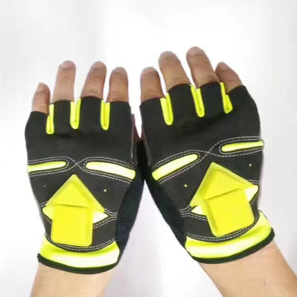 half finger mountain bicyle gloves rigwarl sports gloves with led light bicycle gloves