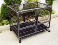 Suitable style folding dog cage, stailess steel metal folding dog cages