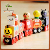 Section 6 Mini Little Train Children'S Educational Magnetic Wooden Toys Models Tractor Toy