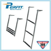 3 step telescoping stainless steel boat ladder