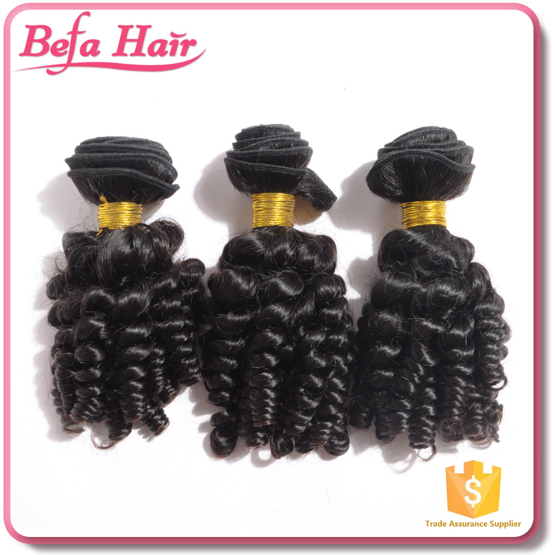 Befa Hair factory price high quality afro kinky baby curl weave