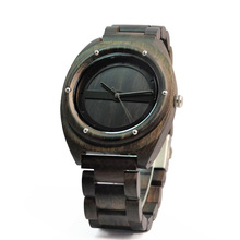 Luxury Design Black Wood Watches ODM Custom Your Brand Logo Natural Wooden Watch
