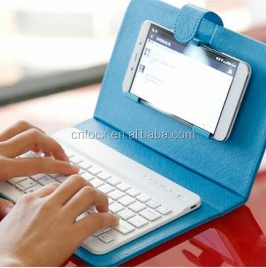 High quality Wireless Bluetooth Keyboard with phone case / phone keyboard / cell phone bluetooth keyboard