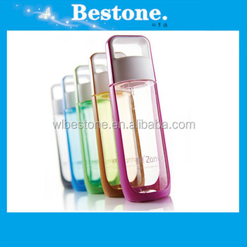 BPA Free colorful transparent Plastic water bottle/sport water bottle