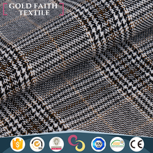 Checked Design Viscose Fiber Nylon Fabric For Men Swimming Suit