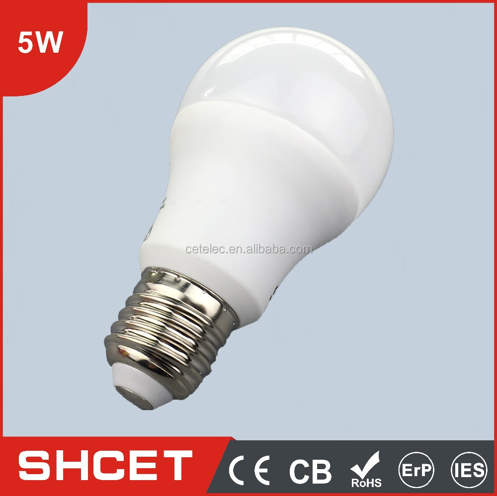 2016 CE CB ROHS CET-A60 5W led bulb equals to 25w incandescent lamp