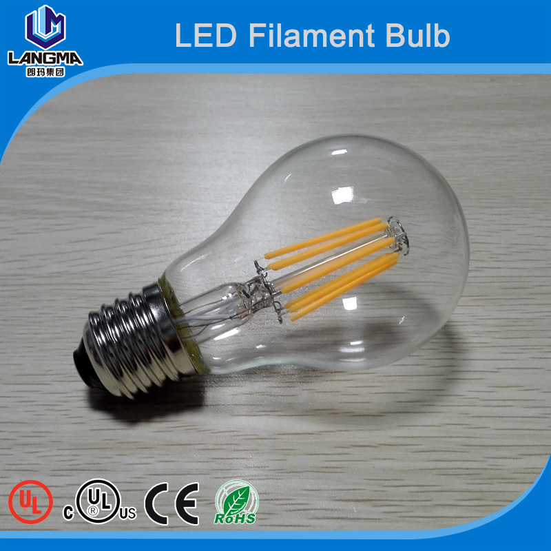 Buy direct from china factory carbon filament led bulb-E27 E14 B22 dimmable filament light bulb-b22 led 5w clear warm white