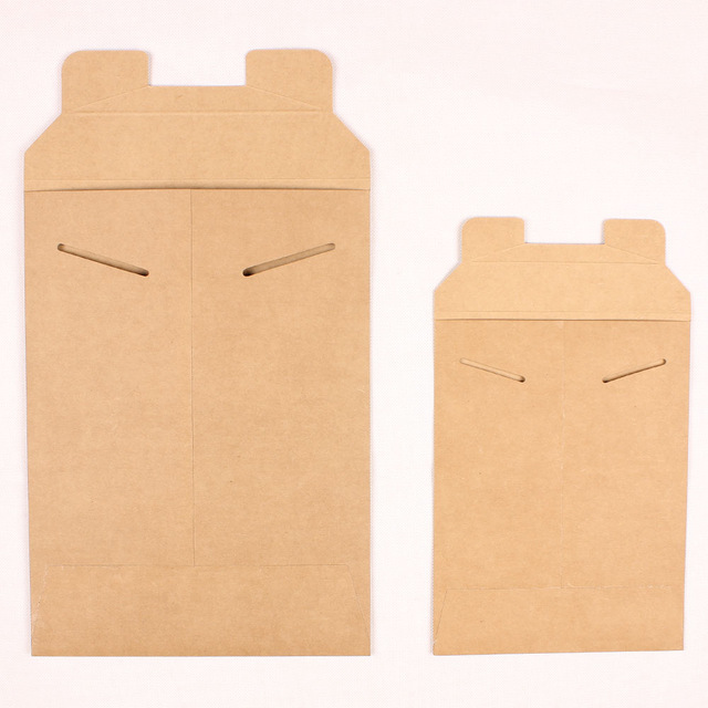2018 New Products Brown Kraft Paper Expanded no Flap Envelope Made in China