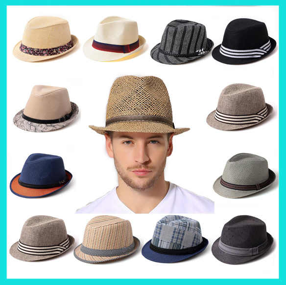 Customized Logo Fashion unisex Panama Straw Hats summer hats Wholesale Beach men trilby fedora hat