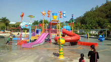 Used fiberglass water slide for sale, water park design