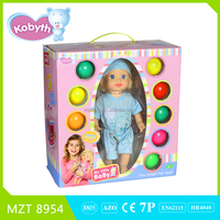 2015 new item 14 inch lovely baby doll+tent+10 balls