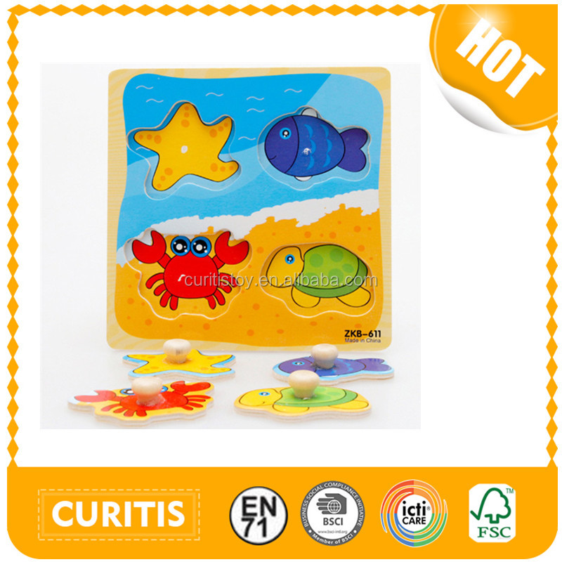 2017 New Product Cartoon Specially Designed For Children Wood Puzzle