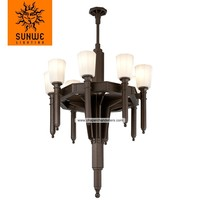 Euro style lighting fixture bespke iron made chandleir in black finish