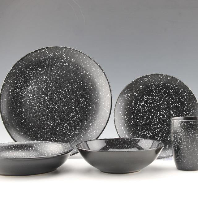 food grade color glazed stoneware dinnerware/16pc domestic ceramics set & 16pc color glazed dinnerware_Yuanwenjun.com