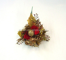 hot sell christmas berry branches glitter christmas floral picks