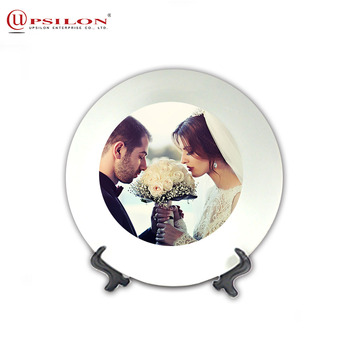 10 Inch Thermal Custom Sublimation Ceramic Plate For Decoration