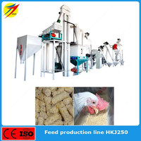 Complete feed pellet mill plant for cow dairy cow horse rabbit food 1ton capacity