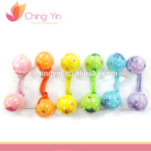 Girls' Fashion Hair Accessories 6pcs Set Assorted Color Balls Elastic Hair Bands Hairties Ponytail Holders