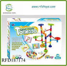 Hot DIY domino tornado building block 88 PCS plastic domino block