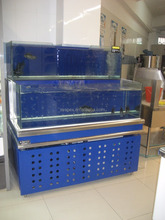 APEX custom make supermarket large commercial live mud crab tanks farm display cabinet