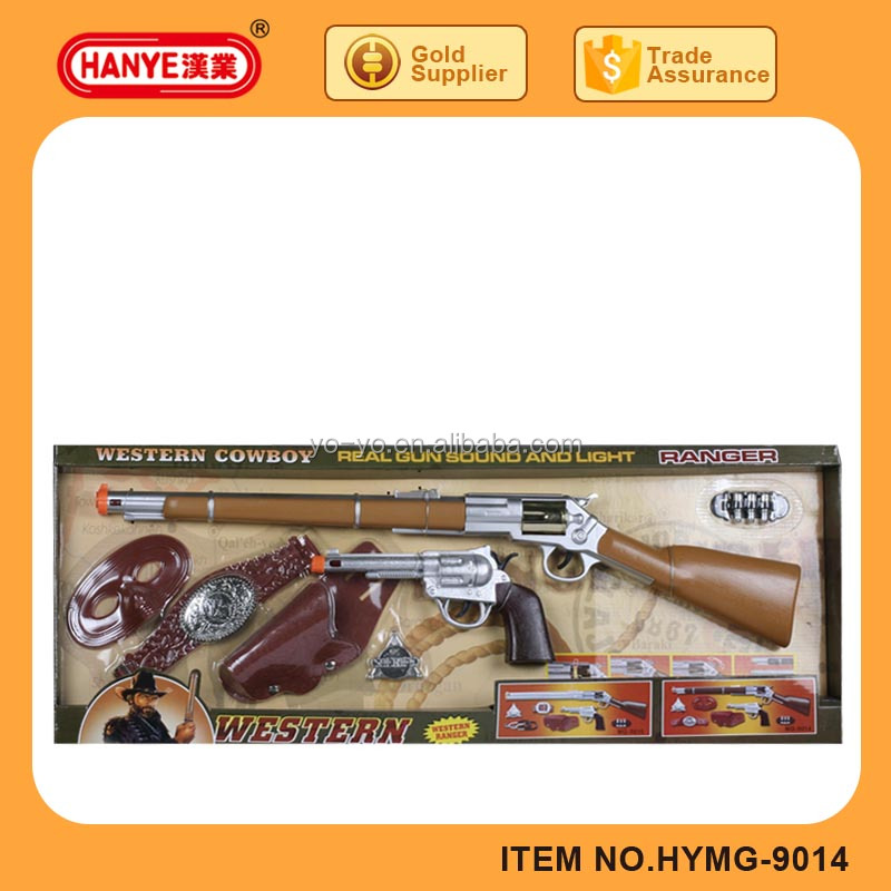 Western cowboy revolver sound and light simulation gun set toy for kids