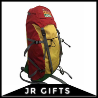 High Quality Red and Yellow 600D Polyester camping backpack